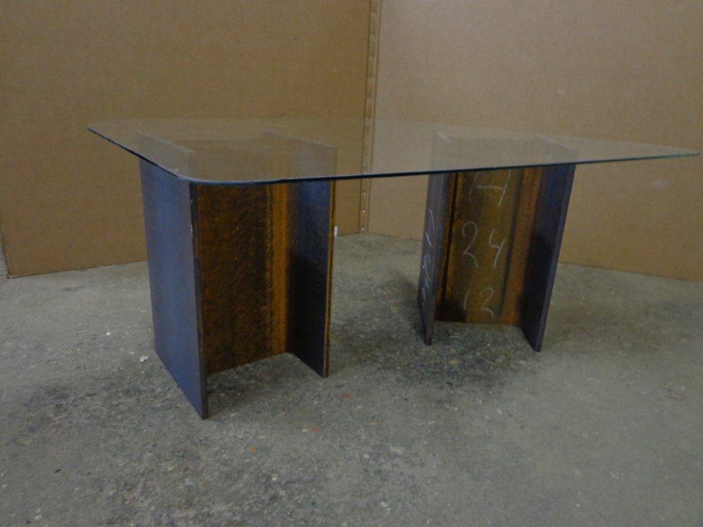 Glasplaat Voor Tafel : Tafel glas awesome aspect glazen salontafel asti hoogglans wit